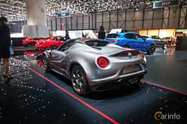 Back/Side of Alfa Romeo 4C Spider 1.75 TBi DCT, 240ps, 2017 at Geneva Motor Show 2017