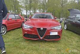 Fram av Alfa Romeo Giulia 2.0 TBi Q4 Automatic, 280ps, 2018 på Italienska Fordonsträffen - Krapperup 2019