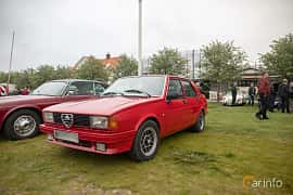 Front/Side  of Alfa Romeo Giulietta 1.8 Manual, 122ps, 1979 at Veteranbilsträff i Vikens hamn  2019 Maj