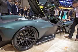 Närbild av Aston Martin Valkyrie 6.5 V12 DCT, 1146ps, 2019 på Geneva Motor Show 2019