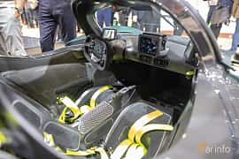Interior of Aston Martin Valkyrie 6.5 V12 DCT, 1146ps, 2019 at Geneva Motor Show 2019