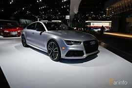 Fram/Sida av Audi RS 7 Sportback 4.0 V8 TFSI quattro TipTronic, 560ps, 2017 på North American International Auto Show 2017