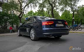 Back/Side of Audi A8 L W12 6.3 W12 FSI quattro TipTronic, 500ps, 2012