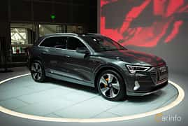 Front/Side  of Audi e-tron 55 quattro  Single Speed, 408ps, 2019 at LA Motor Show 2018