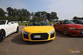 Front  of Audi R8 V10 plus 5.2 V10 FSI quattro S Tronic, 610ps, 2018 at Autoropa Racing day Knutstorp 2019