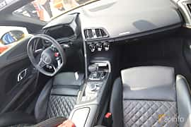 Interior of Audi R8 V10 plus 5.2 V10 FSI quattro S Tronic, 610ps, 2018 at Autoropa Racing day Knutstorp 2019