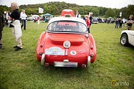 Back of Austin-Healey 3000 2.9 Manual, 126ps, 1961 at Tjolöholm Classic Motor 2016