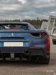 Back of Ferrari 488 GTS 3.9 V8 DCT, 670ps, 2018