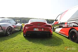 Back of Toyota GR Supra 3.0 Automatic, 340ps, 2019 at Autoropa Racing day Knutstorp 2019