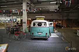 Back of Volkswagen Transporter 1600 Minibus 1.6 Manual, 48ps, 1967 at Bilsport Performance & Custom Motor Show 2019