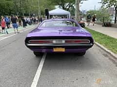 Back of Dodge Challenger 5.6 V8 279ps, 1970 at Father's Day Classic Car Show New York 2019