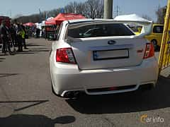 Back of Subaru WRX STi Sedan 2.5 4WD Manual, 300ps, 2007 at Ltava Time Attack 1st Stage