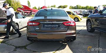 Back of Maserati Quattroporte S Q4  Automatic, 430ps, 2019 at Old Car Land no.1 2019