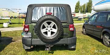 Back of Jeep Wrangler 3.8 V6 4WD 199ps, 2007 at Old Car Land no.1 2019