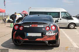 Back of Nissan GT-R 3.8 V6 4x4 DCT, 485ps, 2010 at Proudrs Drag racing Poltava 2019