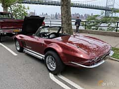 Back/Side of Chevrolet Corvette Stingray Convertible 1963 at Father's Day Classic Car Show New York 2019