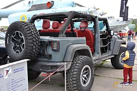 Back/Side of Jeep Wrangler Unlimited 3.8 V6 4WD Automatic, 199ps, 2011 at Old Car Land no.1 2019