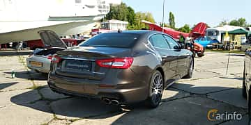 Back/Side of Maserati Quattroporte S Q4  Automatic, 430ps, 2019 at Old Car Land no.1 2019