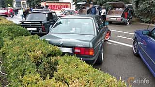 Back/Side of BMW 3 Series 4-door Sedan 1988 at Old Car Land no.2 2018
