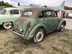 Back/Side of Moskvitch 401 Sedan 1.1 Manual, 26ps, 1956 at Old Car Land no.2 2019