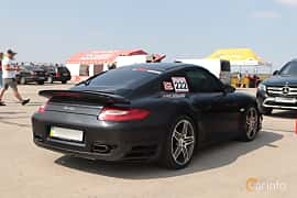 Back/Side of Porsche 911 Turbo 3.8 H6 4 500ps, 2010 at Proudrs Drag racing Poltava 2019