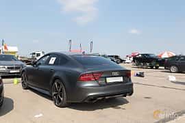 Back/Side of Audi RS 7 Sportback 4.0 TFSI V8 quattro TipTronic, 560ps, 2014 at Proudrs Drag racing Poltava 2019