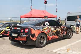 Back/Side of Nissan GT-R 3.8 V6 4x4 DCT, 485ps, 2010 at Proudrs Drag racing Poltava 2019
