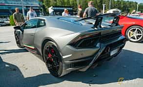 Back/Side of Lamborghini Huracán Performante 5.2 V10 DCT, 640ps, 2018 at Stockholm Vintage & Sports Car meet 2019
