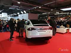 Back/Side of Tesla Model X 90D 90 kWh AWD Single Speed, 423ps, 2018 at Warsawa Motorshow 2018