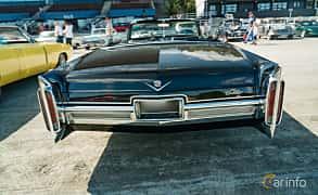 Back of Cadillac De Ville Convertible 7.0 V8 OHV Hydra-Matic, 345ps, 1966 at Stockholm Vintage & Sports Car meet 2019