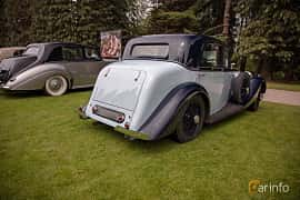 Back/Side of Bentley 3.5 Litre Sports Saloon 3.7 Manual, 111ps, 1935 at Rolls-Royce och Bentley, Norrviken Båstad 2019