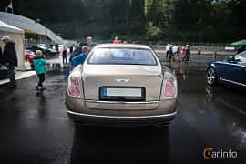 Back of Bentley Mulsanne 6.75 V8  Automatic, 512ps, 2012 at Autoropa Racing day Knutstorp 2015