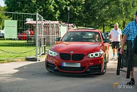 Front/Side  of BMW M235i Coupé  Steptronic, 326ps, 2014 at Ronneby Nostalgia Festival 2019