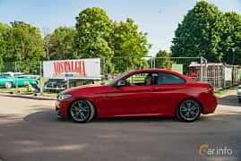 Side  of BMW M235i Coupé  Steptronic, 326ps, 2014 at Ronneby Nostalgia Festival 2019