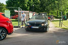 Front/Side  of BMW 325d Convertible  Automatic, 197ps, 2010 at Ronneby Nostalgia Festival 2019