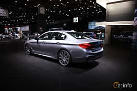Bak/Sida av BMW 540i Sedan 3.0 Steptronic, 340ps, 2017 på North American International Auto Show 2017