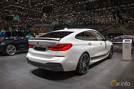 Back/Side of BMW 640d Gran Turismo xDrive  Steptronic, 320ps, 2018 at Geneva Motor Show 2018