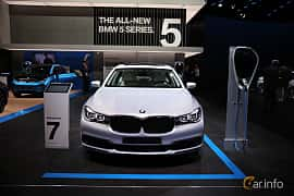 Fram av BMW 740Le xDrive 2.0 xDrive Steptronic, 326ps, 2017 på North American International Auto Show 2017