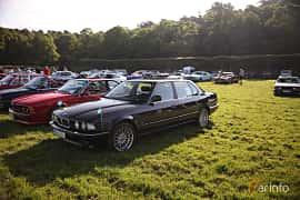 Fram/Sida av BMW 750iL 5.0 V12 Automatic, 300ps, 1989 på Tjolöholm Classic Motor 2018