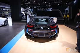 Bak av BMW i8 1.5 + 7.1 kWh Steptronic, 362ps, 2017 på North American International Auto Show 2017