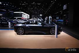 Sida av BMW i8 1.5 + 7.1 kWh Steptronic, 362ps, 2017 på North American International Auto Show 2017