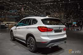 Back/Side of BMW X1 xDrive18d  Steptronic, 150ps, 2018 at Geneva Motor Show 2018