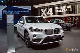 Front/Side  of BMW X1 xDrive18d  Steptronic, 150ps, 2018 at Geneva Motor Show 2018