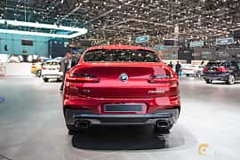 Back of BMW X4 M40d  Steptronic, 326ps, 2018 at Geneva Motor Show 2018