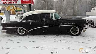 Side  of Buick Super Sedan 5.3 V8 Automatic, 258ps, 1956
