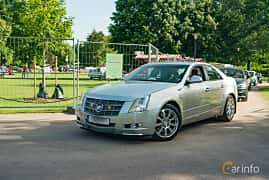 Front/Side  of Cadillac CTS 3.6 V6 Automatic, 309ps, 2008 at Ronneby Nostalgia Festival 2019