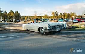 Front/Side  of Cadillac De Ville Convertible 7.0 V8 OHV Hydra-Matic, 345ps, 1966 at Wheelers Cruising, Vetlanda 2019