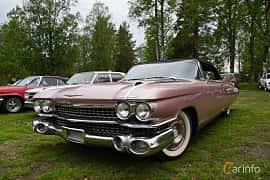 Fram/Sida av Cadillac Eldorado Biarritz 6.4 V8 OHV Hydra-Matic, 349ps, 1959 på Onsdagsträffar på Gammlia Umeå 2019 vecka 23