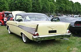 Back/Side of Chevrolet Bel Air Sport Coupé 1957 at Hässleholm Power Start of Summer Meet 2016