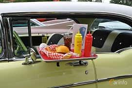 Close-up of Chevrolet Bel Air Sport Coupé 1957 at Hässleholm Power Start of Summer Meet 2016